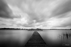 Het Wijde (BernardFalkena) Tags: longexposure lake holland water clouds canon dark landscape blackwhite meer wolken friesland steiger 70d 1018mm