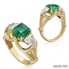 A ring with an Emerald (Azazel.PRO) Tags: flowers art fashion square gallery handmade jewelry ring diamond squareformat emerald exclusive almaz gemstone                iphoneography   instagramapp uploaded:by=instagram