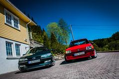Peugeot 406 and 205 (TTEliassen) Tags: red green car wheels sw motor xs gti 406 peugeot rallye 205 peugeot205 peugeot406