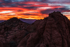 Sunrise Fire (James Marvin Phelps) Tags: valleyoffire sunrise photography sandstone desert nevada ngc redrocks mojavedesert valleyoffirestatepark landscapephotography jamesmarvinphelpsphotography jamesmarvinphelps