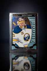 Linus Ullmark Marquee Rookie Platinum (cdn_jets_cards) Tags: ice sports hockey cards marquee nhl buffalo foil deck upper platinum rookie rookies sabres nhlpa
