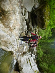P1120410 (Mountain Sports Alpinschule) Tags: blue mountain sports lagoon canyoning zillertal zemmschlucht alpinschule