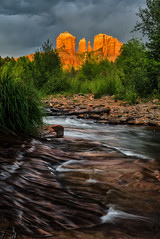 Storm Light at Red Rock Crossing (Guy Schmickle) Tags: arizona sedona cathedralrock coconinonationalforest oakcreek