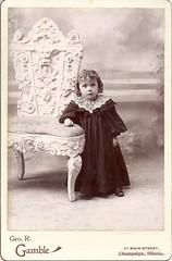 Angelic Little Girl In Champaign (ilgunmkr - Thanks for 4,000,000+ Views) Tags: girl child 19thcentury littlegirl gamble cabinetcard champaignillinois enjoyillinois illinoisphotographers georgergamblephotographer