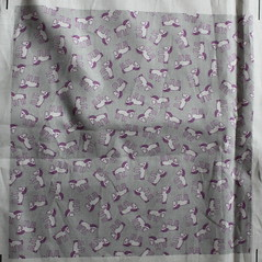 ponies - white on grey (Cecca W) Tags: patterns spoonflower basiccottonultra swatch cotton fabric pattern design patterndesign surfacedesign illustration robots