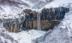 Icicles, snow and waterfall paradise (dezzouk) Tags: snow waterfall iceland icicles svartifoss