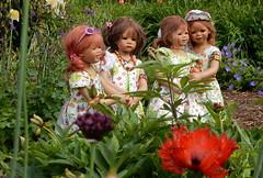 Blumenkinder ... (Kindergartenkinder) Tags: dolls himstedt annette ilce6000 sony essen park gruga kindergartenkinder blumenbeet pflanze blume garten tivi sanrike annemoni milina