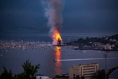 Guinness World Record - Heavy Fire (jforberg) Tags: world party records water norway night fire midsummer guinness celebration bonfire lesund aalesund 2016 slinningsblet
