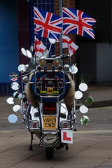 Surfeit of mirrors (dlanor smada) Tags: vespa scooters mirrors flags unionjacks aylesbury bucks mods