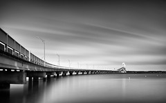 Bridge Over Untroubled Water (mikeyatswb) Tags: blackandwhite bw monochrome leefilters goldnbluepolarizer singhrayfilters gndfilters leesuperstopper