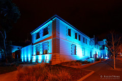 20160618-08-Blue lighting at TMAG (Roger T Wong) Tags: lighting blue night australia tasmania hobart 2016 tmag tasmanianmuseumandartgallery sony1635 rogertwong darkmofo sel1635z sonya7ii sonyilce7m2 sonyalpha7ii sonyfe1635mmf4zaosscarlzeissvariotessart