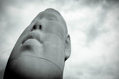 Face West - Seattle, Washington (, ) (dlau Photography) Tags: face west seattle washington   olympicpark       skeptical   buddha    travel tourist vacation visitor people lifestyle life style sightseeing   trip   local   city  urban tour weather   statue  soe monochrome black white