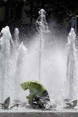 Fountain Fixer (Derek Lobley) Tags: france water fountain repair perpignan fixer