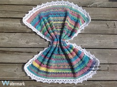 Simply Stunning Baby Blanket II: Finished (Thunderella05) Tags: summer spring rainbow bright crochet blanket boutique shawl multi