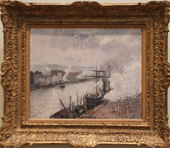 Camille Pissarro - Steamboats in the Port of Rouen 1896 (ahisgett) Tags: new york art museum met metropolitian