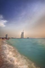 Jumeirah Beach (nabeel461) Tags: jumeirah beach dubai uae seascape sea sky architecture blue colours burj arab canon camera landscape 6d 1740mm travel