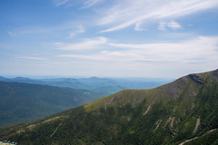 Looking out from Mt Washington (alexmx22) Tags: green mountains whitemountains newhampshire clouds bluesky treeline summit