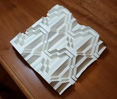 Rectangle Twists (Tom Crain Origami) Tags: origami origamitessellation h