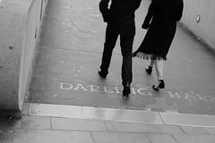 Stepping out (Shawn Sijnstra) Tags: blackandwhite style walking purpose sydney darlingharbour