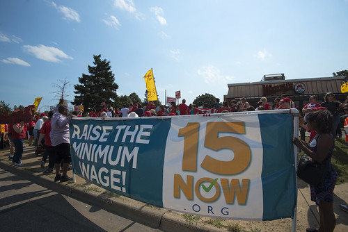 Protest calling for raising the Minneapolis minimum wage to $15/hour, From FlickrPhotos