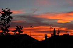 Over the roofs (planosdeluz) Tags: sunset orange gold hour silhouettes siluetas tejados clouds light canon 60d tamron 1750mm