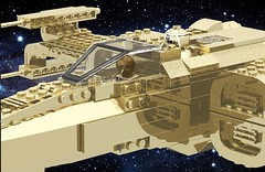 C3PO's X-Wing (cruzen19501) Tags: backgroundsandwallpapersofspaceandearth lego c3po xwing