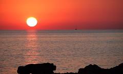 Sunset Mallorca (EdgarJa) Tags: sunset spain espania balearen spanien baleares colonia sant jordi red sun sea meer sonne mar sol