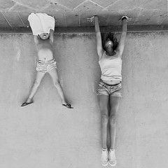 Upside down (boynudelik) Tags: two athlete monochrome street streetphotography riomaggiore cinqueterre italy blacknwhite bw