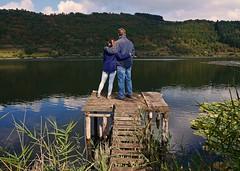 Harmony (heinrich_511) Tags: fatheranddaughter eifelermaare lake steg hiking gm5 1232mm