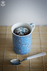 Cioccolato in tazza (Maria Paola R) Tags: blue food cooking dessert sweet chocolate spoon homemade