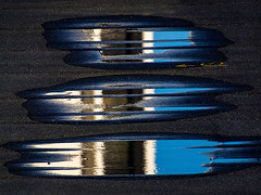 Puddle Reflections (fstop186) Tags: blue abstract water azul reflections puddle wind random ripple patterns olympus panasonic em1 microfourthirds reflectsobsessions lumixgvario100300f4056