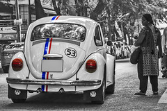 Herbie (Aiel) Tags: classic love car vw race bug volkswagen cool air bangalore beetle stripe disney custom 53 herbie jayanagar jayanagar4thblock