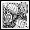 Tickled toTangle (Ilse Lukken) Tags: blackandwhite white fish black angel tangle angelfish challenge tickled paiz zentangle tesali wwwzentanglezooblogspotnl