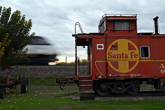 Days of future past (caltrain927) Tags: california santa ca burlington train san railway caboose joaquin amtrak fe northern bnsf planada emd f59phi