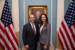 Ambassador Jeffrey Bleich  with Assistant Secretary Evan Ryan at his FFSB Swearing-In Ceremony (Bureau of Educational & Cultural Affairs) Tags: evan ryan board betty jeffrey ambassador castor fulbright bleich evanryan ffsb assistantsecretary assistantsecretaryryan asryan