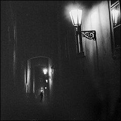 night stroller (zatik) Tags: street 120 film night mood prague tmax mat 124 push rodinal yashica
