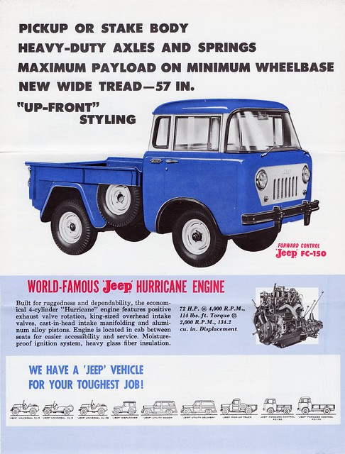 truck control jeep brochure forward willys 1960 fc150