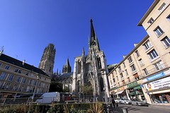 Rouen Cathedral South Transept (oxfordblues84) Tags: france building architecture europe spire rouen gothiccathedral frenchgothic catholiccathedral seinemaritime frencharchitecture rouencathedral southtransept hautenormandie cathdralenotredamederouen crossingtower roadscholar buttertower uppernormandy 5photosadat tourdebeurre toursaintroman crossingtowerspire