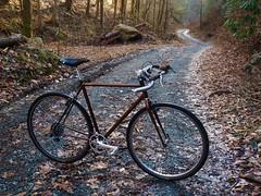 Heck Creek Road (guidedbybicycle) Tags: bicycle cross handmade steel custom saddle gravel handlebars cyclocross brooks midge