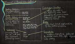 5th Grade: Language Arts; Formal Letter (ArneKaiser) Tags: 5thgrade edited flagstaff languagearts mrkaisersclass pineforestschool waldorf blackboarddrawing businessletter chalk chalkboard chalkdrawings flickr