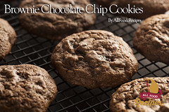 Brownie Chocolate Chip Cookies (Thinkarete) Tags: food brown cookies cake dark dessert milk cookie sweet chocolate rustic tasty fresh sugar delicious biscuit homemade pile bakery snack junkfood biscuits treat cocoa stacked confectionery unhealthy baked chocolatechip chocolatechipcookies darkchocolate fattening chocolatecookies sweetfood