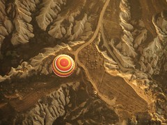 From Above (Mariasme) Tags: turkey fromabove round hotairballoon thumbsup lookingdown göreme twothumbsup matchpointwinner 15challengeswinner gamex2 gamex3 mpt399