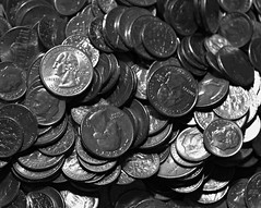2014_1118Spare-Change-B&W0003 (maineman152 (Lou)) Tags: november bw coin coins maine change bwphoto blackandwhitephoto madmoney rainydayfund christmasstashofcoins savedpocketchange