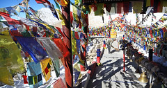 Fluttering Flags (Light and Life -Murali ) Tags: india mountain colors flags ladakh fluttering changla mg7882p1s