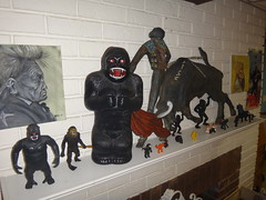 king kong (homeschoolator) Tags: black vintage painting toys spain coin doll king mud indian bank rubber bull kong collection 80s imperial jiggler