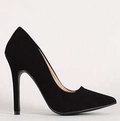 "neon nubuck pointy toe pump 100 blk • <a style=""font-size:0.8em;"" href=""http://www.flickr.com/photos/64360322@N06/15703992986/"" target=""_blank"">View on Flickr</a>"