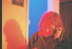 Downtown (Laura-Lynn Petrick) Tags: blue light red motion streets church rain 35mm downtown neon moody traffic streetlights smoking rainy moonlight series jillian cinematic redlight neonsigns cadillaclounge rainystreets lauralynnpetrick lauralynnpetricktoronto torontolegend