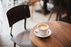 Table Top (M. Klasan) Tags: wood white cup coffee shop table relax cafe chair place drink mug latte