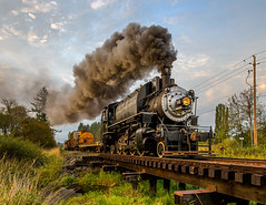 Southbound at Yacolt Creek (kdmadore) Tags: railroad steamlocomotive chelatchieprairie crossettwestern crwc10