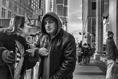 Philadelphia, 2014 (Alan Barr) Tags: street people blackandwhite bw philadelphia monochrome mono blackwhite fuji candid streetphotography sp fujifilm streetphoto marketstreet 2014 marketstreeteast x100s